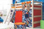 Заказать Полувысокая кровать Соня с наклонной лестницей вариант 6 БЕЗ посредников!