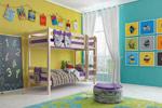 Заказать Двухъярусная кровать Соня с прямой лестницей вариант 9 БЕЗ посредников!