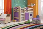 Заказать Низкая кровать Соня с прямой лестницей вариант 11 БЕЗ посредников!