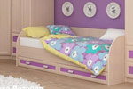 Заказать Кровать Элит КР-04 90, дуб/ розовый БЕЗ посредников!