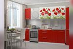 Кухня с фотопечатью Маки 2 м