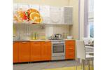 Кухня ЛДСП с фотопечатью Апельсин 2,0 м