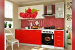 Кухня ЛДСП с фотопечатью Малина 2000