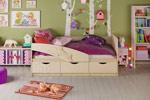 Заказать Детская кровать Дельфин 80 на 160, ваниль матовый БЕЗ посредников!
