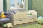 Заказать Детская кровать Дельфин-3 МДФ ваниль (80х160) БЕЗ посредников!