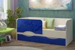 Заказать Детская кровать Дельфин-2 МДФ, тёмно-синий (80х160) БЕЗ посредников!