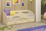 Заказать Детская кровать Дельфин-4 МДФ ваниль (80х160) БЕЗ посредников!