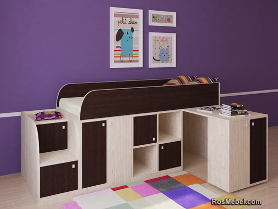 Кровать чердак Астра мини