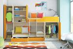 Заказать Двухъярусная кровать ЛЕО с разноцветными фасадами БЕЗ посредников!