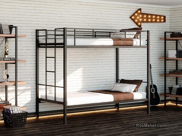 Манхэтен металлическая двухярусная кровать