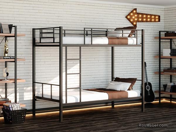 Нью-Йорк металлическая двухярусная кровать