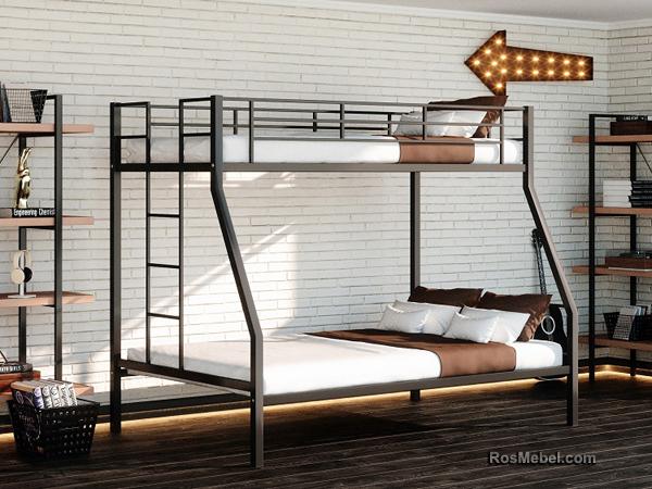 Джерси металлическая двухярусная кровать