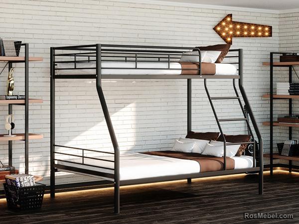Бруклин металлическая двухярусная кровать