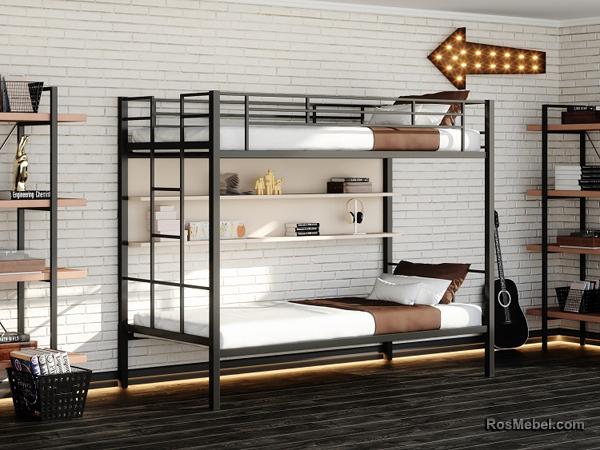 Манхэтен П металлическая двухярусная кровать