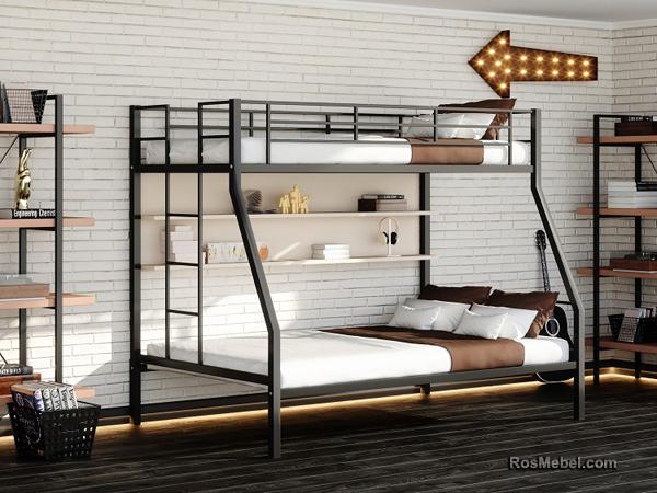 Джерси П металлическая двухярусная кровать