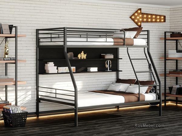 Бруклин П металлическая двухярусная кровать