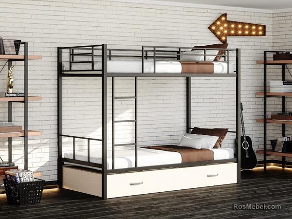 Нью-Йорк Я металлическая двухъярусная кровать
