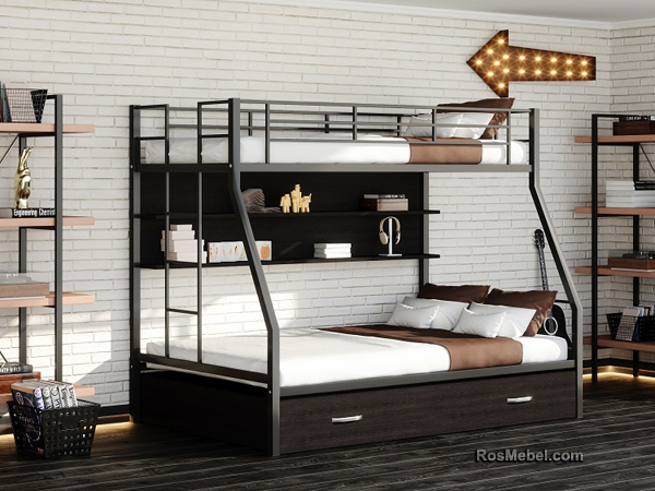 Джерси ПЯ металлическая двухярусная кровать