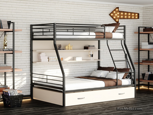 Бруклин ПЯ металлическая двухярусная кровать