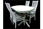 Обеденная мебель для кухни (белая с патиной)