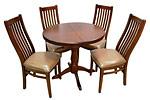 Стол овальный раздвижной (комплект из 4-х стульев)